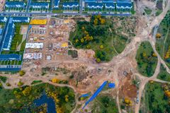 Free Aerial View Of Construction Area Stock Images - 103734844