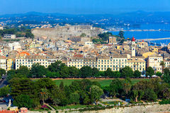 Aerial View Of Corfu City Stock Images