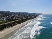 Free Aerial View Of Del Mar Coastline And Beach Royalty Free Stock Photo - 160326485