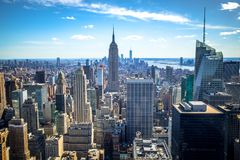 Free Aerial View Of Downtown And Midtown Manhattan Skyline, New York, USA Stock Photography - 121603842