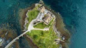 Free Aerial View Of Eilean Castle Highlands Scotland Landscape Stock Photos - 123992853