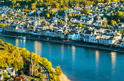 Free Aerial View Of Filsen And Boppard Towns With The Rhine In Germany Stock Images - 134876524