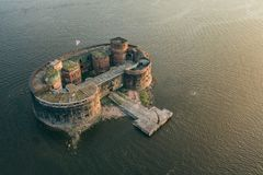 Free Aerial View Of Fort Alexander I Stock Image - 123393381