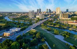 Free Aerial View Of Fort Worth Skyline Royalty Free Stock Photo - 166339405