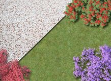 Free Aerial View Of Garden Royalty Free Stock Image - 172220466