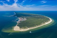 Free Aerial View Of Hel Peninsula In Poland, Baltic Sea And Puck Bay Zatoka Pucka Photo Made By Drone From Above Stock Image - 154294011