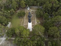 Aerial View Of Hunting Island Lighthouse In South Carolina, USA. Royalty Free Stock Image