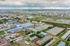 Free Aerial View Of Industrial Area Of Tyumen. Russia Royalty Free Stock Image - 63900626
