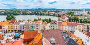 Free Aerial View Of Jindrichuv Hradec From Church Tower, Czech Republic Stock Images - 162782374