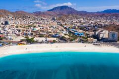 Free Aerial View Of Laginha Beach In Mindelo City In Sao Vicente Island In Cape Verde Stock Images - 173030884