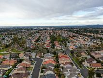 Free Aerial View Of Large-scale Residential Neighborhood, Irvine, California Stock Photography - 168118782