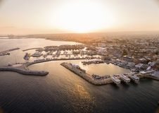 Aerial View Of Limassol Old Port, Cyprus Stock Photos