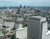Aerial View Of London, England, UK Stock Photography