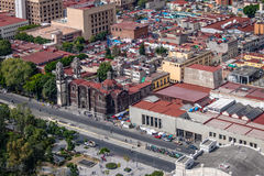 Free Aerial View Of Mexico City And Parroquia De La Santa Veracruz Santa Veracruz Church - Mexico City, Mexico Stock Photography - 94632422