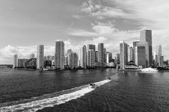 Aerial View Of Miami Skycrapers Royalty Free Stock Photos