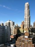 Aerial View Of New York Skyline Stock Photo