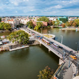 Aerial View Of Northern Wroclaw, Poland Royalty Free Stock Photography