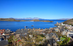Aerial View Of Oban In Sunny Day, Scotland Stock Images