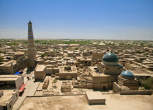 Aerial View Of Old Town In Khiva, Uzbekistan Royalty Free Stock Images