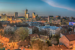 Aerial View Of Old Town In Vilnius, Lithuania Royalty Free Stock Photo