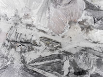 Aerial View Of Open Pit Sand In Poland. Royalty Free Stock Images