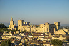 Aerial View Of Palais Des Papes, UNESCO World Heritage Site, And Stock Photo