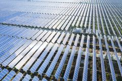Free Aerial View Of Photovoltaic Power Station Stock Photography - 135347772