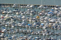 Free Aerial View Of Pier 39 Marina In Fishermans Wharf San Francisco Stock Images - 56627614