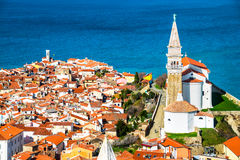 Aerial View Of Piran Royalty Free Stock Photo