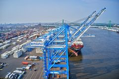 Free Aerial View Of Port Of Philadelphia Royalty Free Stock Photo - 150341125