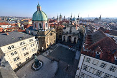 Aerial View Of Prague Stock Photos