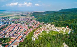 Free Aerial View Of Rasnov Fortress In Romania Stock Photography - 126125222
