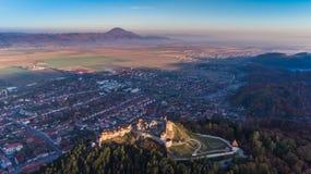 Free Aerial View Of Rasnov Fortress Romania Stock Photo - 104192900