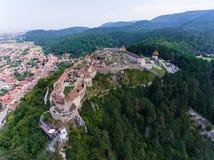 Free Aerial View Of Rasnov Fortress Romania Stock Photo - 96752270