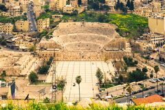 Free Aerial View Of Roman Theatre In Amman Royalty Free Stock Image - 216933846