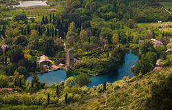 Free Aerial View Of Romantic Ninfa Garden Stock Photography - 90703322