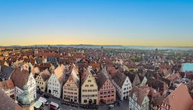 Free Aerial View Of Rothenburg Ob Der Tauber Stock Images - 128314074
