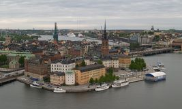 Aerial View Of Stockholm Stock Photography