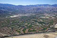 Aerial View Of The Coachella Valley, California Royalty Free Stock Photos