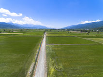Free Aerial View Of The Countryside With Village Stock Image - 99025551