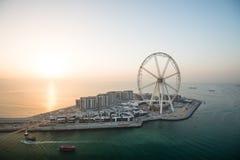 Free Aerial View Of The Dubai Eye At Sunset, UAE Stock Image - 113043371