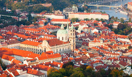 Free Aerial View Of The Lesser Town, Aka Mala Strana, With St Nicholas Church In Prague Royalty Free Stock Images - 81898009