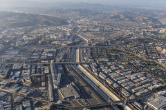 Free Aerial View Of The Los Angeles River, Boyle Heights And Downtown Stock Images - 98476804