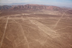 Aerial View Of The Plateau Nazca Lines Royalty Free Stock Photo