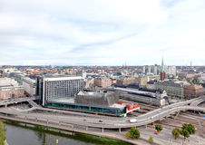Aerial View Of The Stockholm Central Train Station Stock Photography