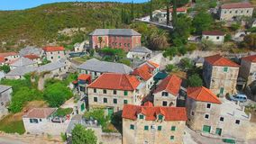Aerial View Of The Village Of Dol On The Island Of Brac. Stock Image