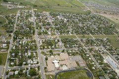 Aerial View Of Town Stock Image