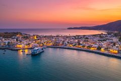 Free Aerial View Of Traditional Village Of Paleochora, Chania, Crete, Greece Royalty Free Stock Photos - 151615448