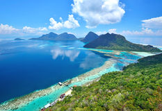 Free Aerial View Of Tropical Island Of Bohey Dulang Near Siapdan Island Stock Image - 55437201