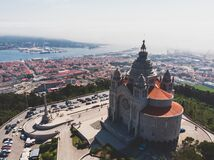 Free Aerial View Of Viana Do Castelo, Norte Region, Portugal, With Basilica Santa Luzia Church, Shot From Drone Stock Image - 168754581